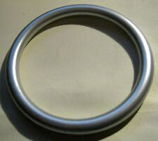 Wonderful matt silver tone plastic bangle style bracelet approx 2.5ins wide