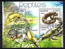 Animaux Reptiles Ouganda (168) série complète 4 timbres oblitérés