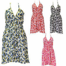Unbranded Cotton Floral Dresses Halter Neck