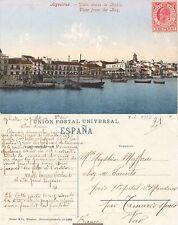 Tarjeta Postal. ALGECIRAS. (Cádiz). Vista desde la Bahía. Escrita 10-Julio 1909,