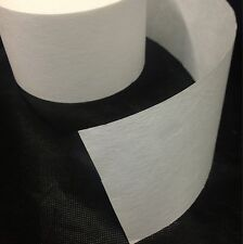 "Buckram 10 yards 3"" Non Woven Drapery  HEAVY WEIGHT Sew On Fabric stiffening"