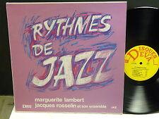 MARGUERITE LAMBERT  JACQUES ROSSELIN  Rythmes de jazz DISQUES DEVA JAZ