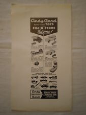 VINTAGE ANDY GARD REMOTE CONTROL TOYS  GENERAL MOLDS & PLASTICS CORP AD PROOF