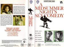 A MIDSUMMER NIGHT'S SEX COMEDY -VHS - PAL -NEW-Never played!-Original Oz release