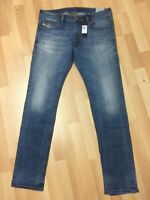 MEN Diesel THAVAR STRETCH DENIM 0848Z BLUE SKINNY Slim W34 L32 H6 RRP£170