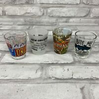 Louisiana New Orleans Lot of 4 Collectible Souvenir Shot Glasses U.S. States