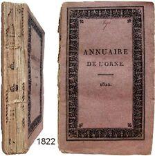 Annuaire statistique historique administratif de l'Orne 1822 carte tableaux etc