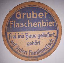 TRES RARE - SOUS BOCK AVANT GUERRE - GRUBER FLASCHENBIER STRASBOURG KÖNIGSHOFEN