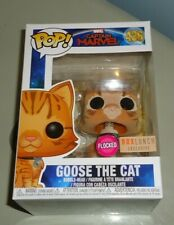 Funko Pop - Captain Marvel : Goose The Cat ( Box Lunch Exclusive ) Flocked