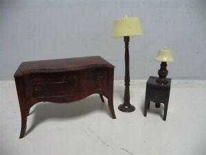 Renwal Doll Furniture Lamps and Tables--4 pieces