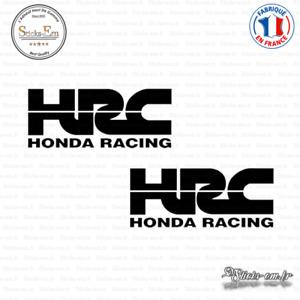 2 Stickers HONDA HRC Decal Aufkleber Pegatinas HON02 Couleurs au choix