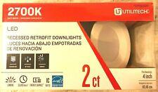 "2 Pack, 4"" Recessed Light LED Retrofit Downlight 60-Watt Equivalent Dimmable NEW"