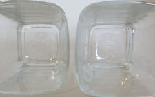 Pair of Embossed Bottom 8oz Crown RoyaL Whiskey Rocks Drink Glasses Bar