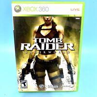 Tomb Raider Underworld (Microsoft Xbox 360 2008) Complete w Manual Lara Croft