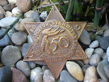 rare, vintage dutch MOTOR STERRIT AMSTERDAM 1950 - brass Car Badge plaque