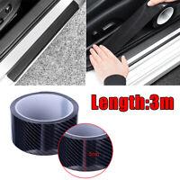 Protector Sill Scuff Cover Auto Car Door Carbon Fiber Sticker Anti Scratch Strip