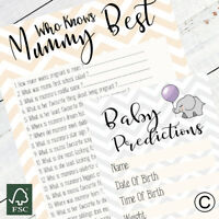 Baby Shower Games Who Knows Mum Best Baby Predictions Double Pack