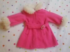 """9"""" Pink Coat for American Doll(?) Marked Funrise Toy Corp., pre-owned"""