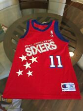 Vintage Manute Bol 76ers Red Champion Jersey 36 Excellent Condition
