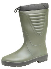 Unisex Tie Top Green Polar Boots Faux Fur Lined Winter Waterproof Wellies 4 - 12