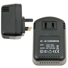 UK Plug to US Socket Voltage Step Down Converter *230V - 110V 45W* Mains Adapter