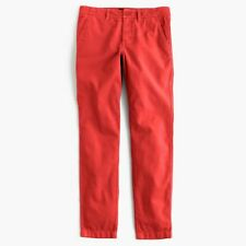 J.CREW SUNDAY SLIM CHINO Pants Khakis Belvedere RED 6 Small S Cuffed Cropped NEW
