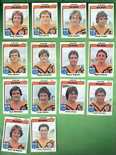 #D431.  1980  BALMAIN TIGERS SCANLENS RUGBY LEAGUE CARDS