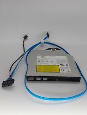 Dell PowerEdge R710 Server CD/DVD-RW Drive w/SATA Cable and bracket xt618 27nc0