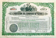 Houston Oil Company of Texas > 1930s stock certificate green share