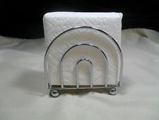 Brand New Chrome Metal Napkin Holder/ Letter Holders W/Ball Foot