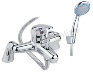 Luxury Bathroom Chrome Sink Bath Filler Tap Shower Mixer Taps with Hand Held