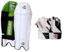 Cw Cricket Combo Wicket Keeping Legguard Protector With W/K Gloves For Men's