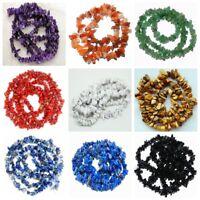"Natural Ametyst Quartz Agate Lapis Lazuli Jasper Freeform Chips Loose Beads 16"""