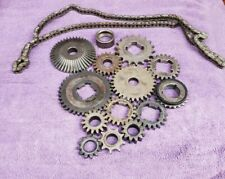 Lot Of STEAMPUNK, Industrial Art, Iron Age, Metal Gears, Vintage Parts