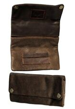 """Original Kavatza Tobacco Pouch """"mary"""" in Antique Brown Leather Cig Case Rolling"""