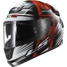 LS2 FF320 STREAM BANG RED / WHITE WITH SUN VISOR, SIZE EXTRA LARGE RRP £129.99