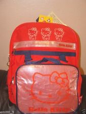 New Sanrio Hello Kitty Red Backpack And Lunchbox & Coin Bag