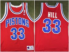 Vintage Mens M/L 90s Detroit Pistons Grant Hill NBA Basketball Champion Jersey