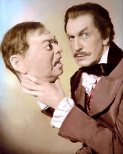 """VINCENT PRICE TALES OF TERROR 1962 HOLLYWOOD ACTOR 8x10"""" HAND COLOR TINTED PHOTO"""