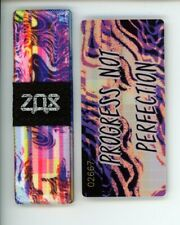 Medium ZOX Silver Strap PROGRESS NOT PERFECTION Wristband with Card Reversible