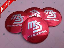 4X Fit  MS Mazda Speed  WHEEL CAPs Alloy  EMBLEM Badges Stickers 56mm NEW 3D