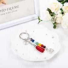 New Chakra Keychain Colorful Stone Beads 7 Chakras Energy Yoga Fitness Key Chain