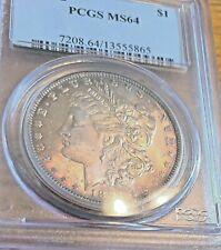 1891-O $1 Morgan Dollar Pcgs Ms64 Color - Graded before + Grading, will upgrade