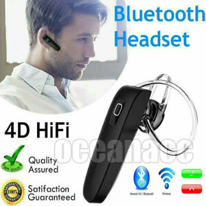 Wireless Bluetooth Headset Mobile Phone Hands Free Earpiece for Samsung iPhone