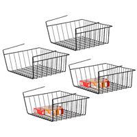 4 Pack Kitchen Storage Bin Under Shelf Wire Rack Cabinet Basket Organizer Stand