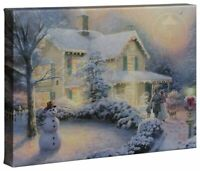 Thomas Kinkade Studios Heart Of Christmas 10 x 14 Canvas Wrap