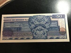 1981 MEXICO 50 PESOS  NICE UNCIRCULATED BANK NOTE