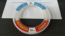 1 Spool Trik Fish Saltwater CLEAR Leader Material 40 lbs. Test 50 Yards