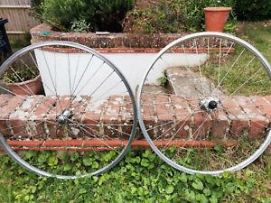26 inch Rim Brake Shimano Vintage mtb Mountain Bike Wheels Front & Rear