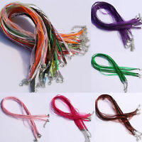 20Pcs Organza Necklace Choker Voile String Ribbon Cord Lobster Clasp Chain DIY